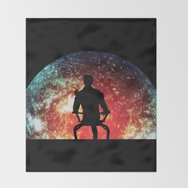Illusive man ( Mass Effect ) Throw Blanket