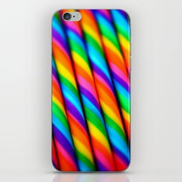 Rainbow Candy : Candy Canes iPhone Skin