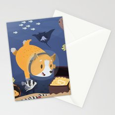 Diving For Treasure! Stationery Cards