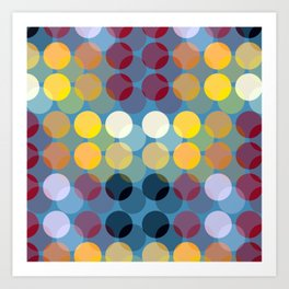 Colorful Polka Dot Art Print