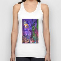 grafitti Tank Tops featuring New York Collage by Bakmann Art