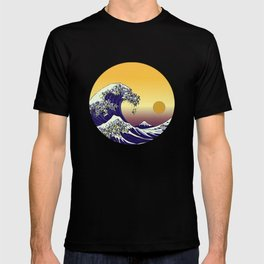 The Great Wave - Sunset T-shirt