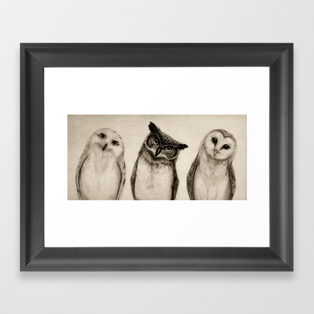 illustration framed art prints society6
