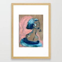 Blue Swirl Framed Art Print
