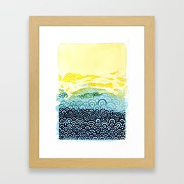 Seigaiha Series - Embrace Framed Art Print