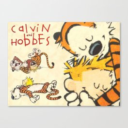 Calvin and Hobbes forever Canvas Print