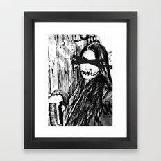 black and white eyes Framed Art Print