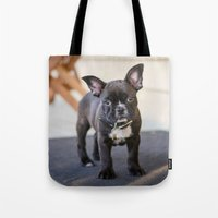 frog Tote Bags featuring Frog by Carol Knudsen Photographic Artist