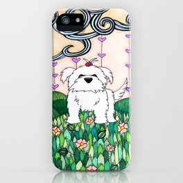 Cameo the Dog on a Hill iPhone Case
