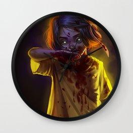 Vampire Girl (#Drawlloween2016 Series) Wall Clock