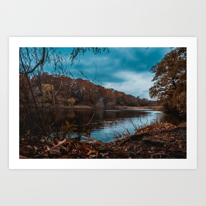 Autumn Pond Photograph Art Print