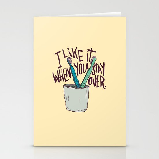 STAY OVER Stationery Cards