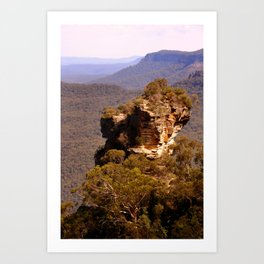 Blue Mountains Rockface Art Print