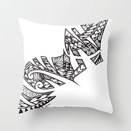 Tapa Ink - Niu Throw Pillow