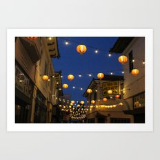 Chinatown Lanterns in L.A. Art Print