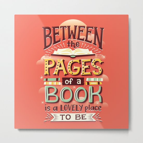 Between pages Metal Print