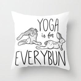 Yoga is for Everybun Throw Pillow