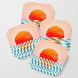 Minimalist Sunset III Coaster