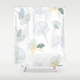 ginkgo biloba leaves pattern Shower Curtain