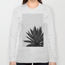 Agave Cactus Black & White Long Sleeve T-shirt