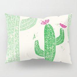 Linocut Cactus #2 Pillow Sham