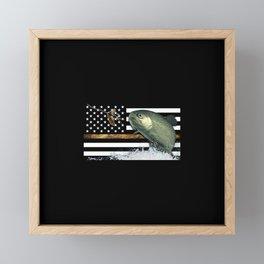 Trout: Thin Line Flag Framed Mini Art Print