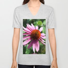 Purple Conflower Unisex V-Neck