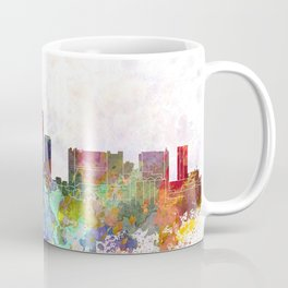 Essen skyline in watercolor background Coffee Mug