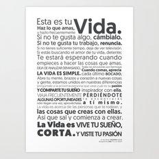 Es tu vida by Jota Torcida B&W Art Print