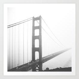 Golden Gate Bridge in San Francisco, California Art Print