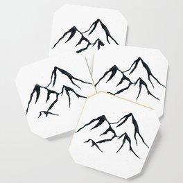 MOUNTAINS Black and White Coaster