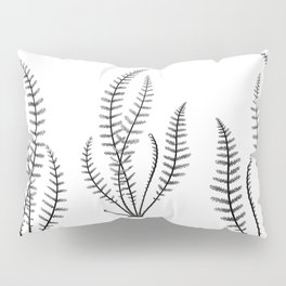 Minimal Black Fern Pillow Sham