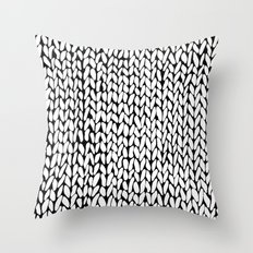 Hand Knitted Loops Throw Pillow