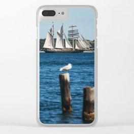 Tall Ship Gulden Leeuw Clear iPhone Case