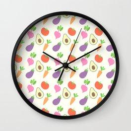 Mixed Vegetable Wall Clock