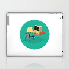 Nerd playing Pong Laptop & iPad Skin
