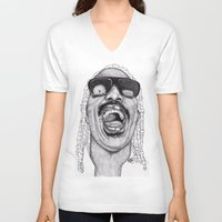 stevie nicks V-neck T-shirts featuring Stevie  by Paul Nelson-Esch Art
