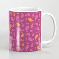 paisley Mugs featuring Paisley  by Poli Cunha