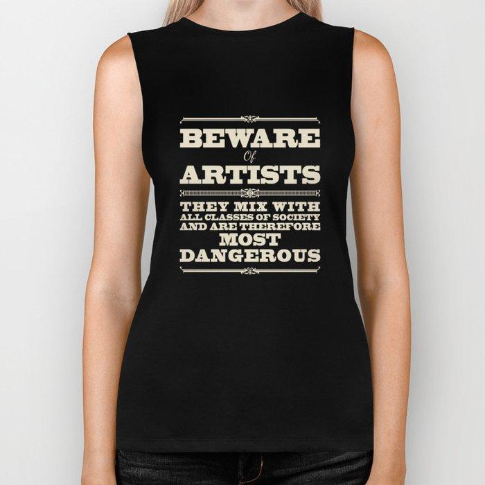 Beware of Artists Biker Tank