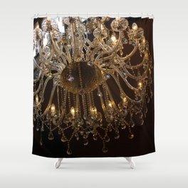 Glass Chandelier Shower Curtain