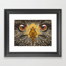 The look. Framed Art Print