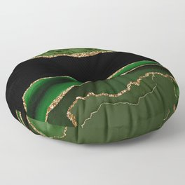 Emerald Marble Glamour Landscapes Floor Pillow