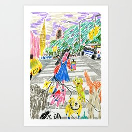Dogs of New York City Art Print
