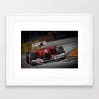 ferrari Framed Art Prints featuring Ferrari  by Joseph Christopher