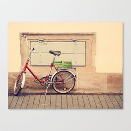 The Green Basket Canvas Print