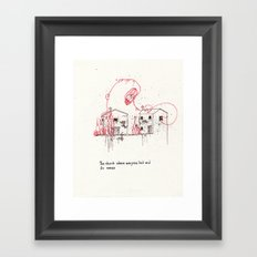 The church where everybody lied and it's annex Framed Art Print