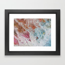 WHITE WASH | Fluid abstract art by Natalie Burnett Art Framed Art Print