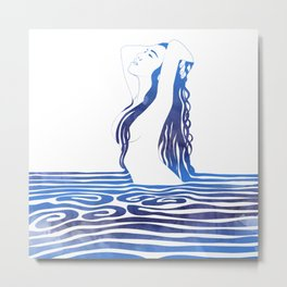 Water Nymph X Metal Print