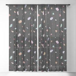 Colorful Terrazzo I Sheer Curtain
