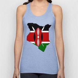 Kenya Map with Kenyan Flag Unisex Tank Top